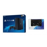 PS4 PRO 1TB (CUH-7106B) Jet Black (Asia Version) + Extra New DS4 Jet Black