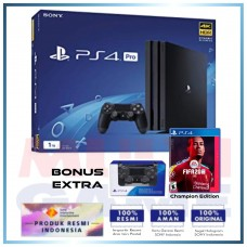 (12.12) PS4 PRO 1TB Jet Black + Extra DS4 Black & Game Fifa 20 Champion Edition