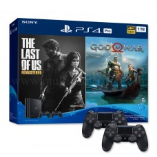 PS4 PRO 1TB (CUH-7218B) Jet Black Bundle 2 Game & 2 DS4