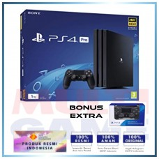 PS4 PRO 1TB (CUH-7106B) Jet Black (Asia Version) + Extra DS4 Pilih Warna