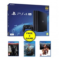 PS4 PRO 1TB (CUH-7106B) Jet Black (Asia Version) + Extra 3 Game