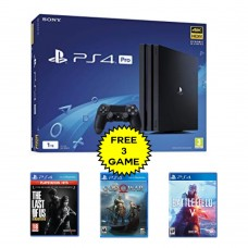 PS4 PRO 1TB (CUH-7106B) Jet Black (Asia Version) + Extra 3 BD Game