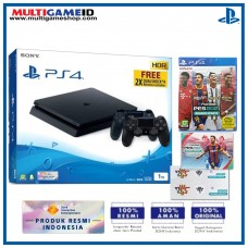 PS4 Slim 1TB Jet Black (2 DS4) + PES 2021 Limited 25th Anniversary Calender R3