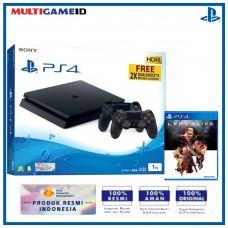 (11.11) PS4 Slim 1TB Jet Black (2 DS4) + Game PS4 Left Alive