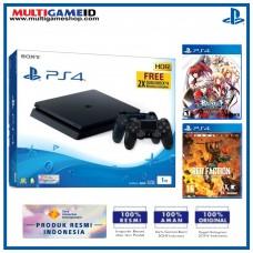 (11.11) PS4 Slim 1TB Jet Black (2 DS4) + 2 Games (BlazBlue Extend & Red Faction Guerrilla)