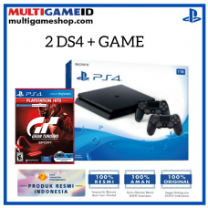 Free Ongkir (Official) PS4 Slim 1TB Jet Black (2 DS4) +Game GT Sports