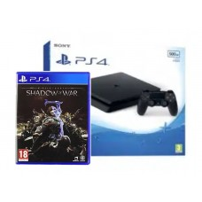 PS4 Slim 500GB (CUH-2106A) Jet Black (FirmWare 5.05) +Game Middle Earth Shadow Of War (R3)
