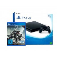 PS4 Slim 500GB (CUH-2106A) Jet Black +Game Destiny 2 (R3) +PSN 3 Bulan