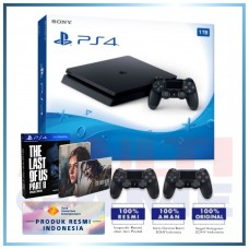 (Official) PS4 Slim 1TB Jet Black (2 DS4) +PS4 The Last Of Us Part II Special Edition (R3)