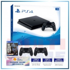 (Official) PS4 Slim 1TB Jet Black (2 DS4) +PS4 The Last Of Us Part II Std (R3)