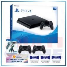 (Official) PS4 Slim 1TB Jet Black (2 DS4) +PS4 Final Fantasy VII Remake (R3)
