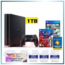 (Imlek) PS4 Slim 1TB Bundle 2 Game (PES 2020 & BattleBorn) & PSN