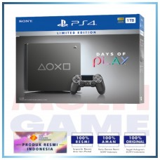 (Official) PS4 Slim 1TB Steel Black (2118-B BZR) Days Of Play Limited