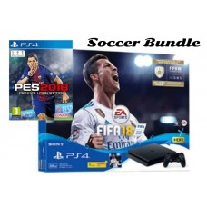 PS4 Slim 500GB (CUH-2106A)  Soccer Bundle (Fifa 18 & PES 2018 Premium + PSN 3Bulan)