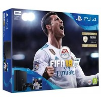 PS4 Slim 500GB (CUH-2106A) Bundle FIFA 18 (Game Fisik & Icons + PSN 3Bulan)