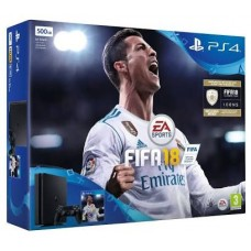 PS4 Slim 500GB (CUH-2106A) Bundle FIFA 18 (Game Fisik & Icons + PSN 3Bulan)