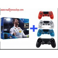 PS4 Slim 500GB (CUH-2106A) Bundle FIFA 18 (Game Fisik & Icons + PSN 3Bulan) Extra  DS4