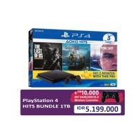 (Promo School Holiday) PS4 Slim 1TB (CUH-2218B) Hits Bundle (3 Games + PSN) + Extra DS4 Black