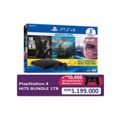 PS4 Slim 1TB (CUH-2218B) Hits Bundle (3 Games + PSN) + Extra DS4 Black