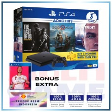 (11.11 PROMO) PS4 Slim 1TB (CUH-2218B) Hits Bundle (3 Games + PSN) + FIFA 20 (R3)