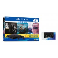 PS4 Slim 500GB HITS 2018 Bundle (3 Games + PSN) + Extra DS4 Black