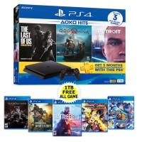 PS4 Slim 1TB (CUH-2218B) Hits Bundle (3 Games + PSN) + Extra 5 Game