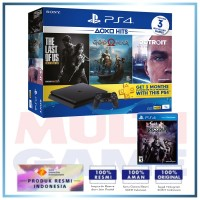 (2020) PS4 Slim 1TB Hits Bundle (3 Games + PSN) + Extra Game Dissidia NT