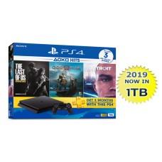 PS4 Slim 1TB (CUH-2218B) Hits Bundle (3 Games + PSN)