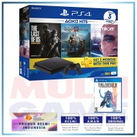 (Imlek) PS4 Slim 1TB Hits Bundle (3 Games + PSN) + Extra Game Final Fantasy XII