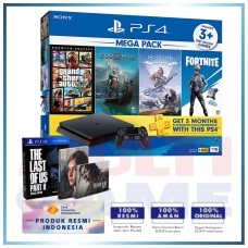 (Official) PS4 Slim 1TB Mega Pack #2 (4 Games + PSN) +PS4 The Last Of Us II Special Edt (R3)