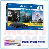 PS4 Slim 1TB Mega Pack #1 (3 GAME +PSN) BUNDLING+GAME