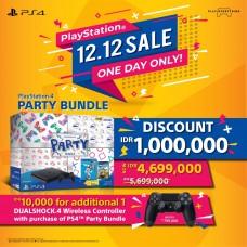 --PO/DP-- PS4 Slim 500GB PARTY 2018 Bundle (2Games + PSN) Extra DS4 Jet Black (Aktif 12.12 Jam 00.01)