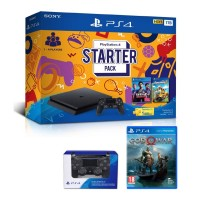 PS4 Slim 1TB Starter Pack +Extra DS4 Black + GAME GOW (R3)