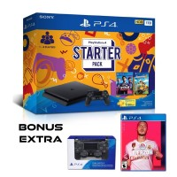 PS4 Slim 1TB Starter Pack +Extra DS4 Black +PS4 Fifa 20 (R3)