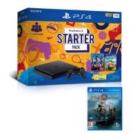 PS4 Slim 1TB Starter Pack + Game God Of  War