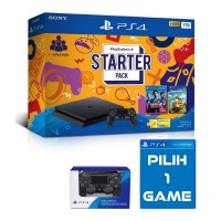 PS4 Slim 1TB Starter Pack +Extra DS4 Black + EXTRA GAME PILIH
