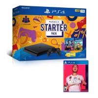 PS4 Slim 1TB Starter Pack + Game fifa 20 Region 3