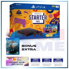 PS4 Slim 1TB Starter Pack (Fifa & OverCook) + Game God Of  War