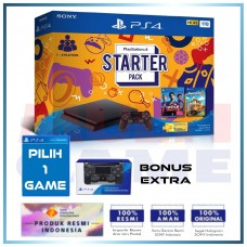 (11.11 PROMO) PS4 Slim 1TB Starter Pack +Extra DS4 Black + EXTRA GAME PILIH