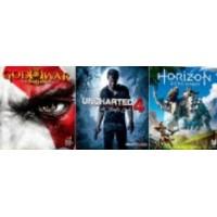 Uncharted 4 + Horizon Zero Dawn (Rating 9.3) + God Of War 3 + PSN 3 Bulan
