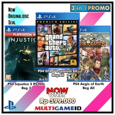 3in1 GTA V +Injustice2 +Aegis