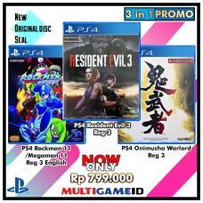 3in1 Rockman +Onimusha +Resident Evil3