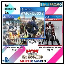 3in1 watch Dogs2 +Bloodborne +Dead Rising
