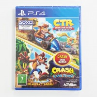 Crash Bandicoot N-sane Trilogy + CTR Crash Team Racing Nitro Kart Double Pack (Rally)