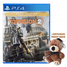 Tom Clancy's the Division 2 GOLD +Keychain Teddy Bear