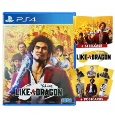 Yakuza 7 like A Dragon +Postcards +Steelcase (PS5 Upgradeable)
