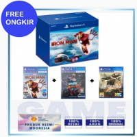 (Free Ongkir) Playstation VR V2 +Camera +Move Motion (CUH-ZVR-2) +Iron Man +Space Junkies +Bravo Team