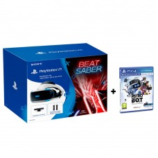 Playstation VR Versi 2 (CUH-ZVR-2) Beat Saber All In One Pack (Camera + 2pcs Move Motion + Game DLC) Extra Game Astro Bot