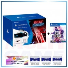 Playstation VR Versi 2 (CUH-ZVR-2) Beat Saber Pack (Camera +2pcs Move Motion +Game DLC) +Game Blood 'n Thruth