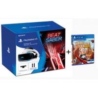Playstation VR Versi 2 (CUH-ZVR-2) Beat Saber Pack (Camera +2pcs Move Motion +Game DLC) +Game Roller Coaster